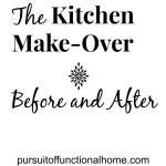 Kitchen Make-Over Series Final Part : Before and After