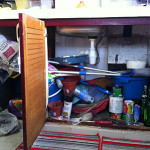 Kitchen Make-Over Part IV: Cleaning & Organizing the Kitchen Sink Cabinet