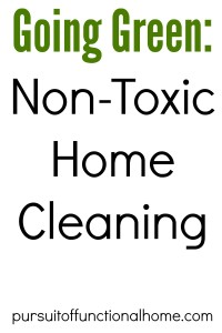 Going Green Non Toxic Home Cleaning