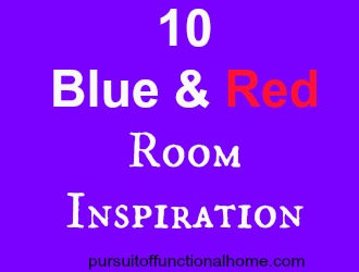 10 Blue and Red Room Inspiration