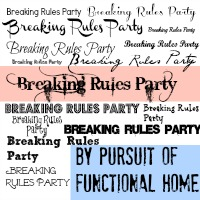 Breaking Rules Party #5