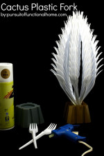 DIY Home Decor – Cactus Plastic Fork