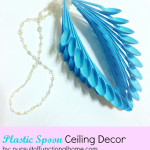Plastic Spoon Ceiling Decor