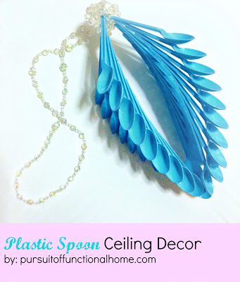 DIY Plastic Spoon Ceiling Decor