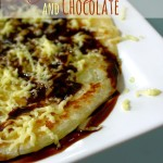 Roti Prata with Cheese and Chocolate