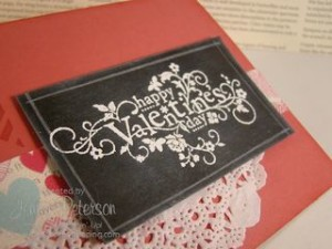Chalkboard Technique Video, Stampin' Up! Style