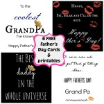 Six Free Father's Day Cards and Printables