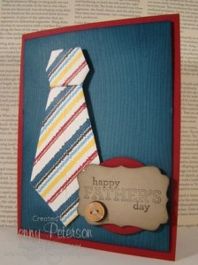 How to make a Origami Tie for Father's Day Card