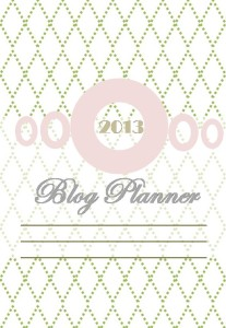 Blog Planner Cover Page