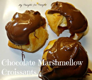 Chocolate Marshmallow Croissants