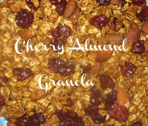 Homemade Crunchy Cherry Almond Granola