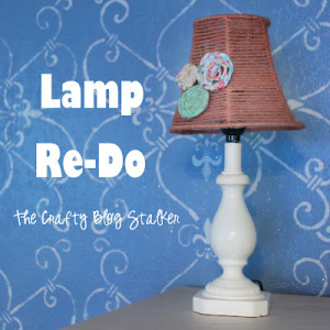 Lamp Redo by Katie of The Crafty Blog Stalker