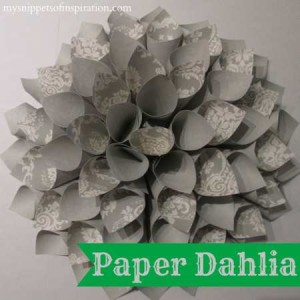Paper Dahlia Decor Snippets of Inspiration