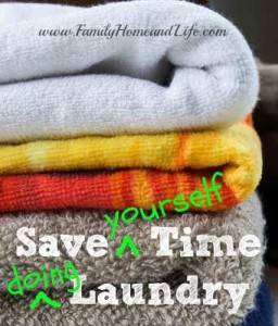 Save Time Doing Laundry, My Version