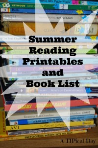Summer Reading Printables and Reading List