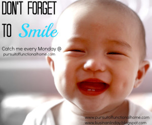 Don't Forget To Smile Series by Pursuit of Functional Home. Baby with a beautifyl smile. Baby with Dimples and 2 front teeth.