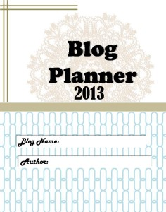 Free Blog Planner II Front Cover