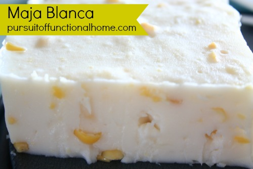 Maja Blanca Recipe Pursuit Of Functional Home