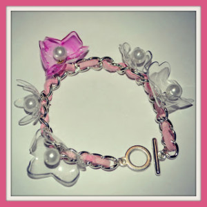 Plastic Bottle to Flower Charm Bracelet