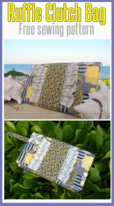 Ruffle Clutch Bag by: Deby of Sew So Easy