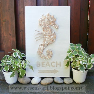 Beach Sea Horse Sign