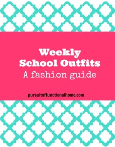 Weekly School Outfits. A fashion guide by pursuitoffunctionalhome.com
