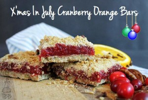X-Mas in July Cranberry Orange Bars