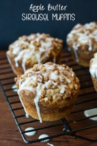 Apple Butter  Streusel Muffins by Tastes of Lizzy T