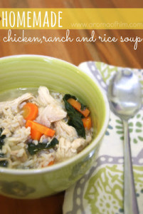 {Homemade} Chicken, Ranch, and Rice Soup  by: A Sweet Fragrance