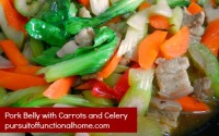 Pork Belly with Carrots and Celery