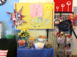 Polka Dots Birthday Themed Party. Candy Bar.
