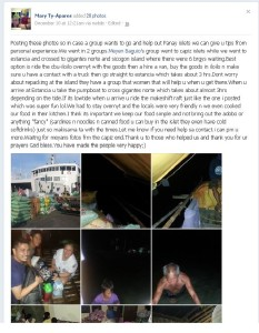 Update from Mary Ty re The Relief Ops in Panay
