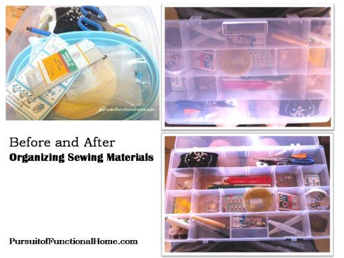Organizing Sewing Materials