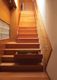 5 Things You Didn't Know Your Stairs Could Do. Stairs with drawers.