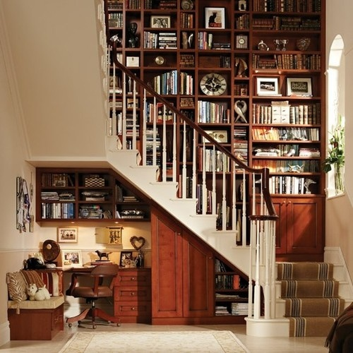 5 Things You Didn't Know Your Stairs Could Do. Secret Nook under the stairs.