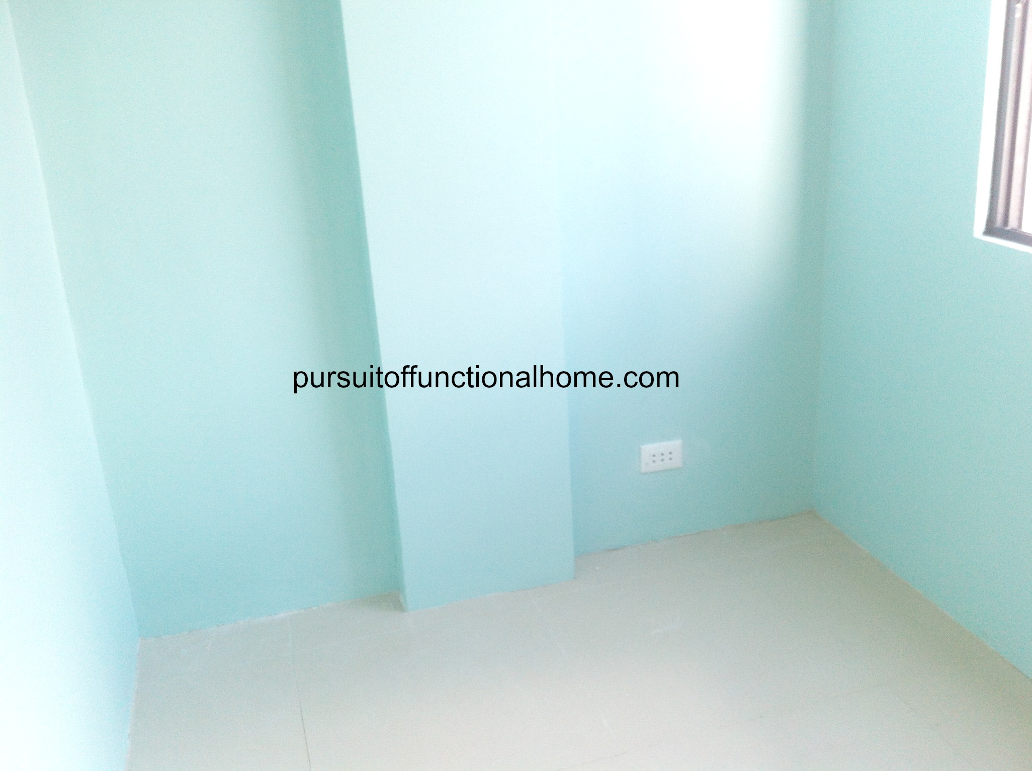 Bedroom 2.. Under construction. Cebu City Town House