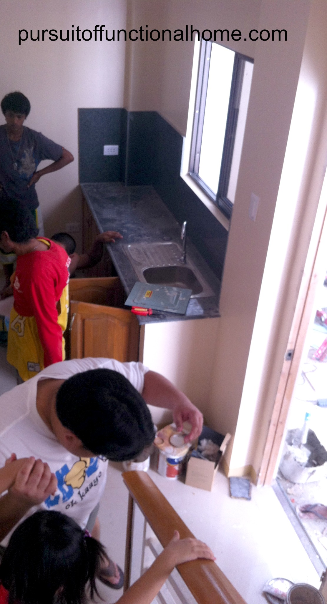 Kitchen Area.\ Under construction. Cebu City Town House