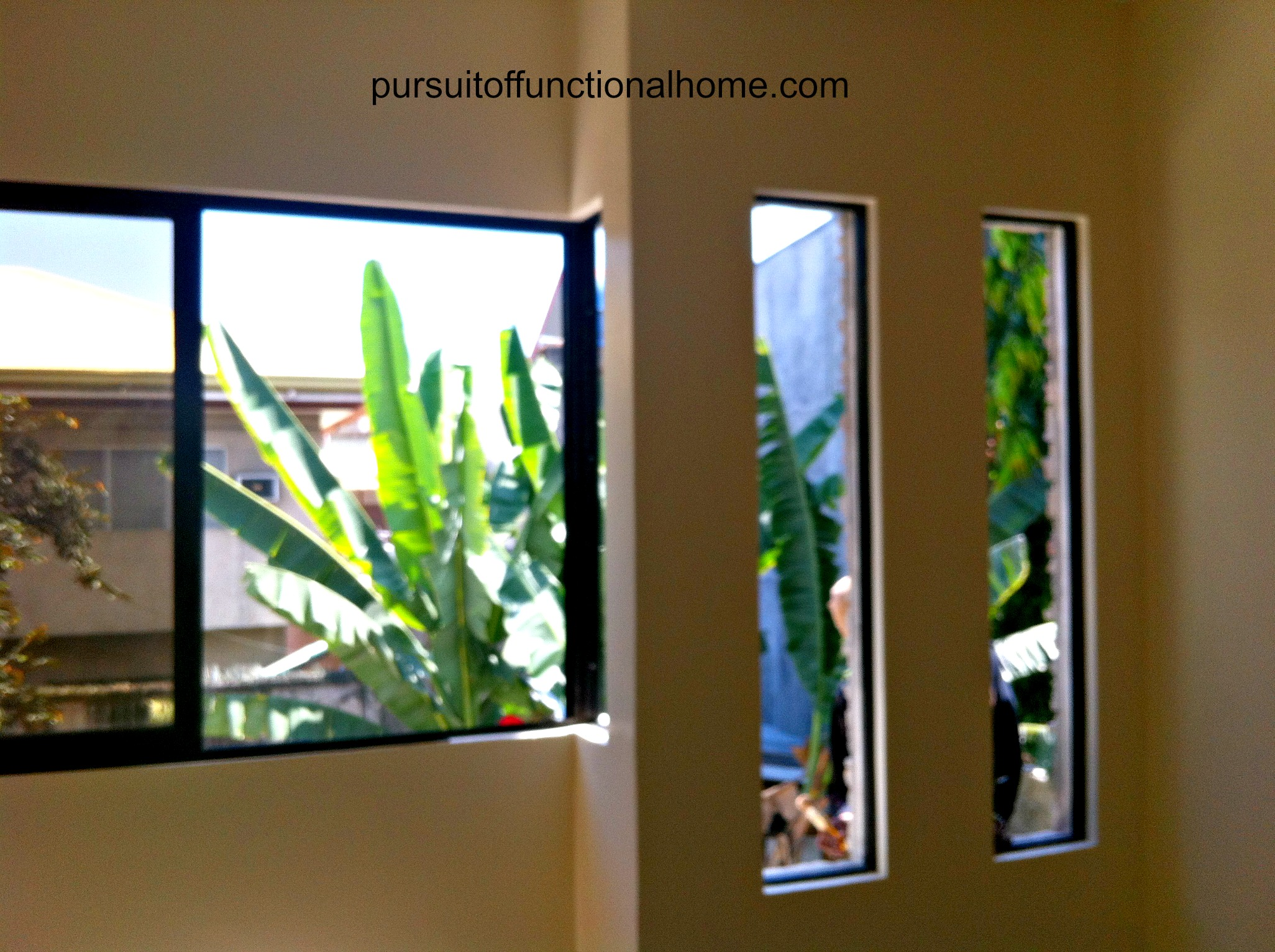 masters bedroom windows. Under construction. Cebu City Town House