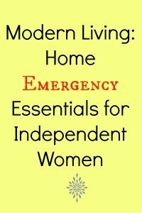 Modern Living Home Emergency Essentials for Independent Women