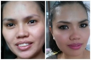 Before and After Brown Smokey Eyes