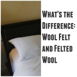 What's the Difference: Wool Felt and Felted Wool