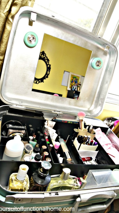 Turn Old Suitcase into Vanity Dresser