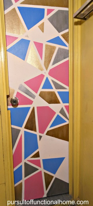 updating old door, how to update old door, graphic door design, graphic design doors