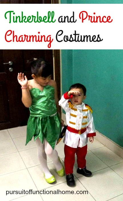 tinkerbell and prince charming, how to make tinkerbell costume, how to make prince charming costume, tinkerbell dress, prince charming suit