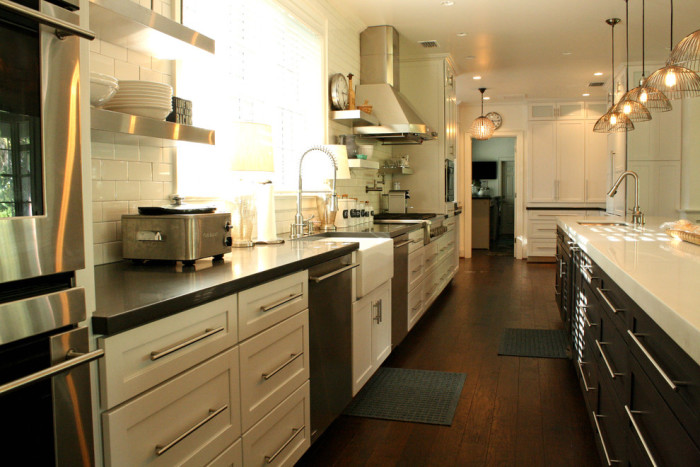 Kitchen Solutions, beautiful long white kitchen