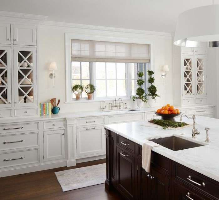 Kitchen Solutions, beautiful white kitchen with island