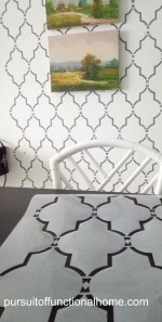 Reusable Wall Stencil Sophia Trellis Pattern