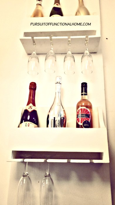 Wine Storage, wine organizer, how to organize wine, wine and glass organizer, wood wine organizer, how to organize a small space