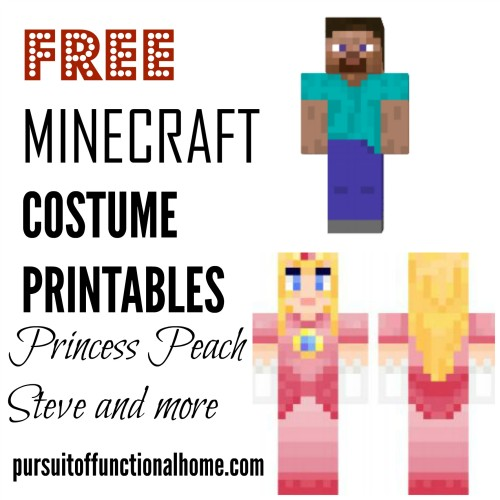 FREE Minecraft Costume Printables