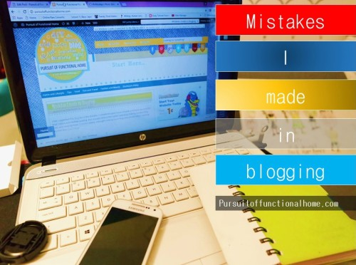 Mistakes I made in Blogging